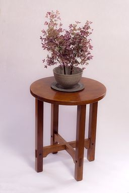 Custom Made Stickley Design Craftsman Round Side Table