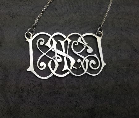 Custom Made Traditional Or Multi-Initial Family Monogram Pendants
