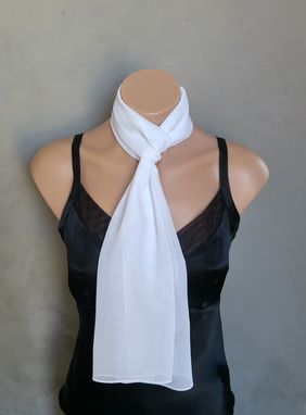 Custom Made White Chiffon Scarf