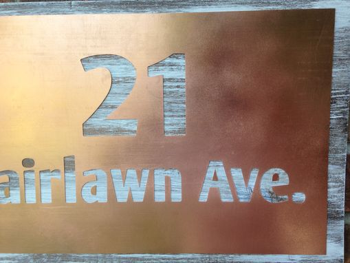 Custom Made Copper Address Sign