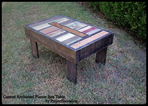 Custom Made Reclaimed Planter Box Table / Outdoor Herb Table