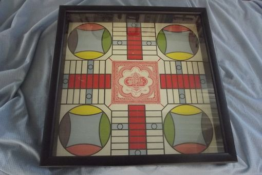 Custom Made Antique Game Board Shadow Box In Contemporary Frame