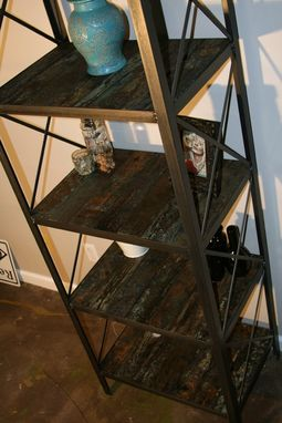 Custom Made Industrial Rustic Bookcase (Or Shelving Unit),  Reclaimed Wood Etagere, Modern Vintage Shelf