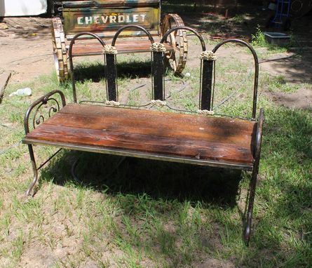Custom Made Farm House Garden Bench By Raymond Guest