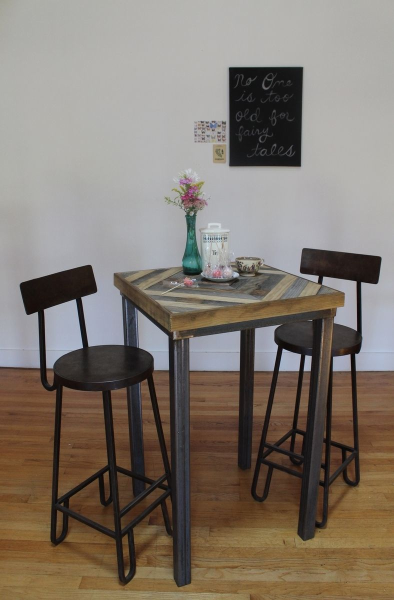 Buy A Hand Made Reclaimed Wood Pub And Kitchen End Table