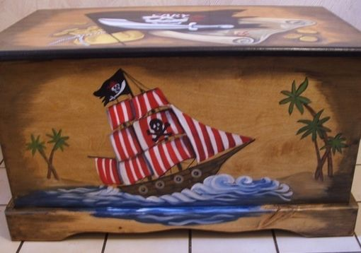 Custom Made Wooden Pirate Toy Box