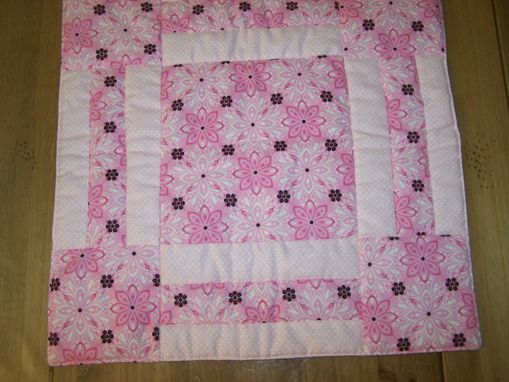 Custom Made Pink Delight Matching Doll Quilt And Pillow Set And Child Quilt