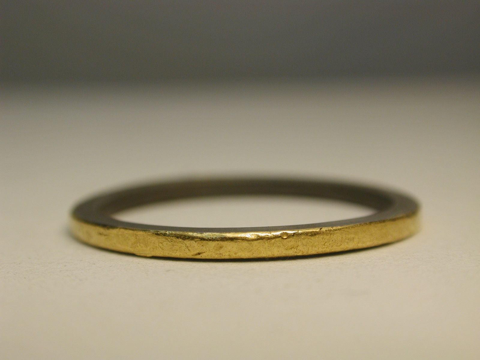 Custom Made Anium Wedding Ring With 24k Gold Inlay