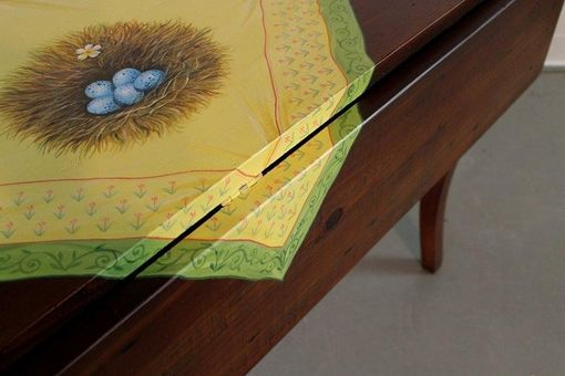 Custom Made Hand Painted Drop Lead Table