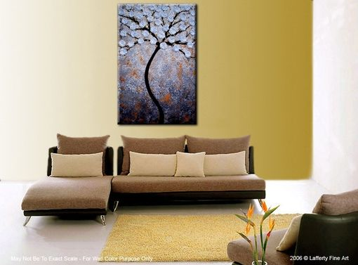 Custom Made Xlarge Gallery Wrap Canvas Abstract 3ft X 2ft Floral Original Painting Contemporary Impasto Tree
