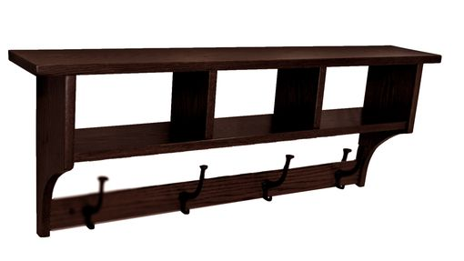 Custom Made Amish Seven Inch Cubbie Shelf Knick-Knack Storage Oak & Hardwoods