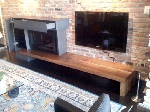 Custom Made Bench With Cabinet