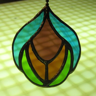 Custom Made Stained Glass Fan Pulls