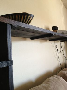 Custom Made Hamad Shou-Sugi-Ban Shelf
