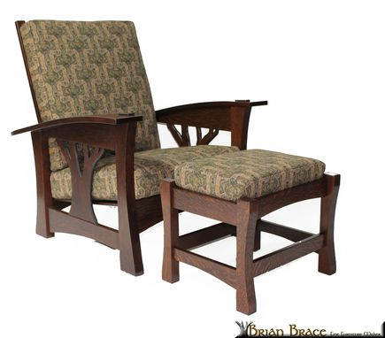 Custom Made Arbor Morris Chair And Ottoman