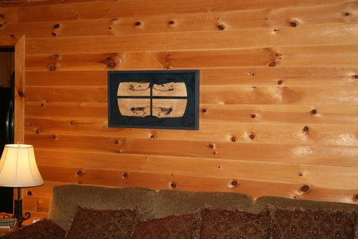 Custom Made Blue Cross - Wall Art - Maple