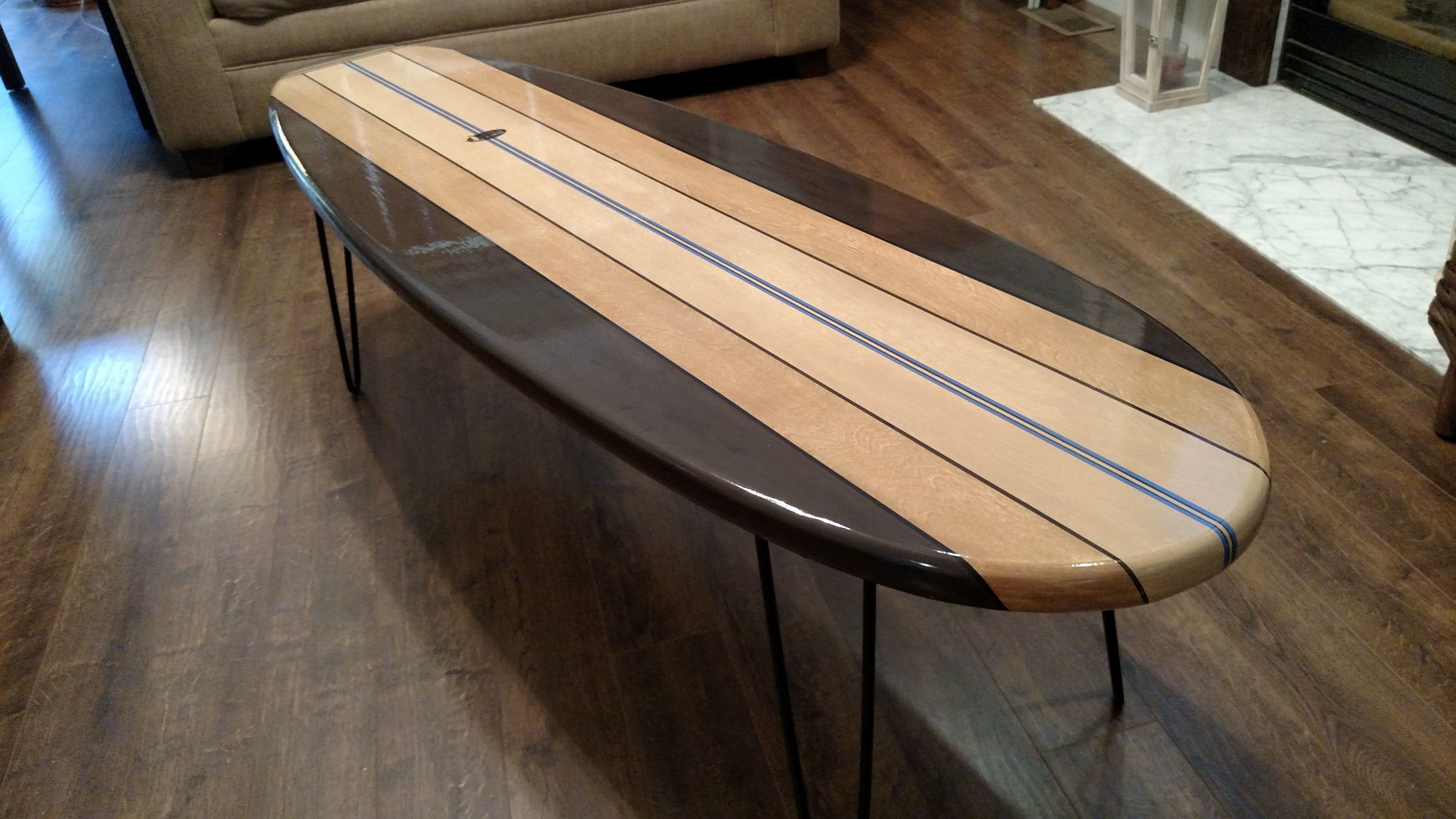 "Buy a Custom Made Surfboard Coffee Table Old School 60"" made to"