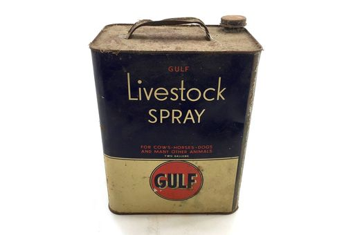 Custom Made Antique Gulf Livestock Spray Can - Storiedboards - #B17008