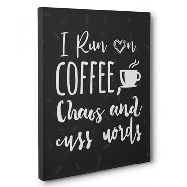 Custom Made Run On Coffee Canvas Wall Art