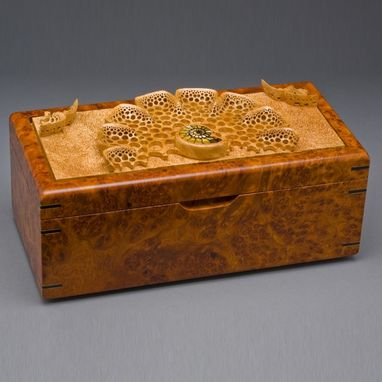 "Custom Made Jewelry Box ""Amboyna"""