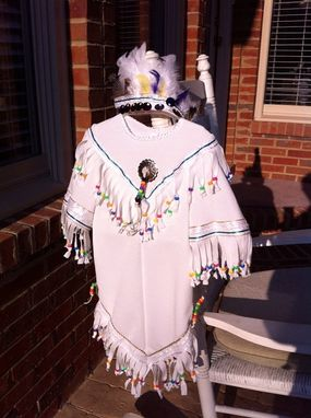 Custom Made Pocahantas Indian Princess White Wedding Costume