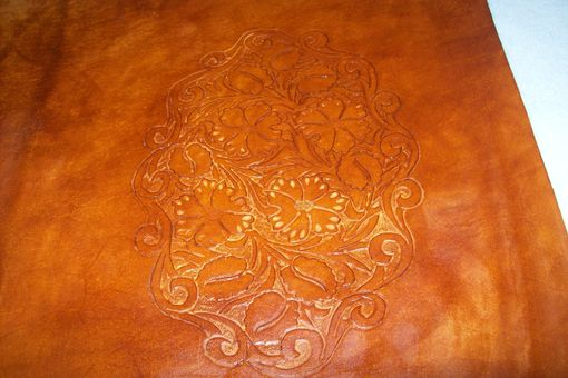 Custom Made Custom Leather Portfolio With Scrolling Sheridan