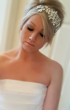 Custom Made Floral Rhinestone Tulle Bridal Headpiece