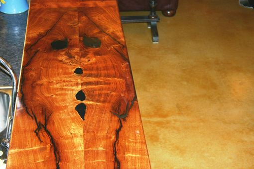 Custom Made Bookmatched Mesquite Bar Top