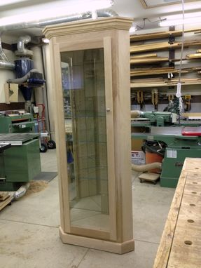 Custom Made Hardwood Curio Cabinet