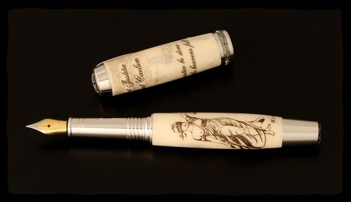Custom Made Lady Justice Fountain Pen