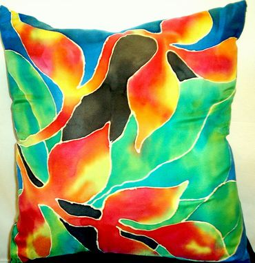 Custom Made Hand Painted Silk Pillow