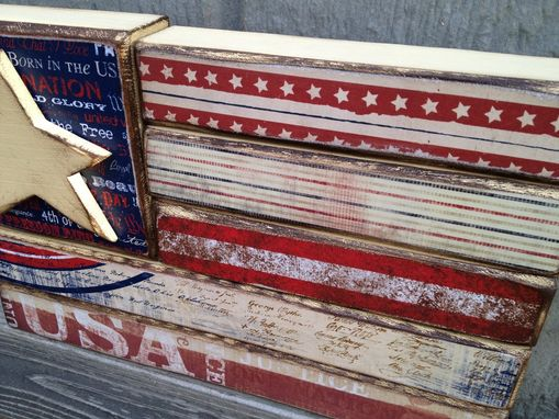 Custom Made American Flag--Red, White, And Blue