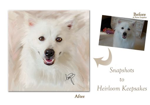 Custom Made Custom Pet Portrait On Fine Art Paper With White Matt Included