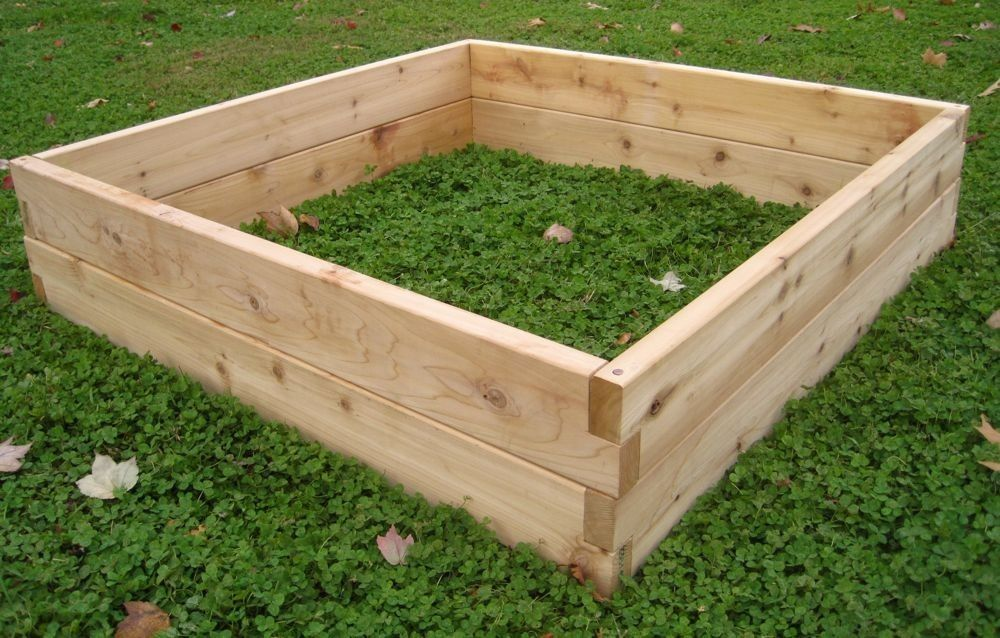 Custom cedar raised garden beds by sunnyside projects Raised garden beds