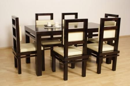 Custom Made Hardwood Dining Table Set