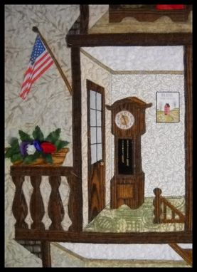 Custom Made Home Sweet Home Quilted And Appliqued Wall Hanging