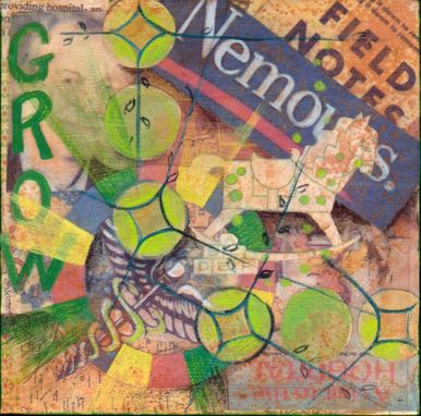 Custom Made Nemours Children's Hospital Mixed Media Collage Paintings
