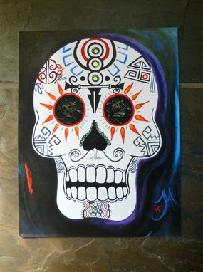 Custom Made Sugar Skull Day Of The Dead Print