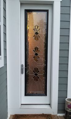 "Custom Made Stained Glass Door Panel /  ""Exquisite Bevels"" (P-21)"