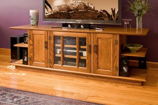 Custom Made Kim's Tv Console With Three Doors