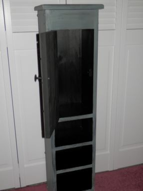 Custom Made Tall Slender Storage Cabinet