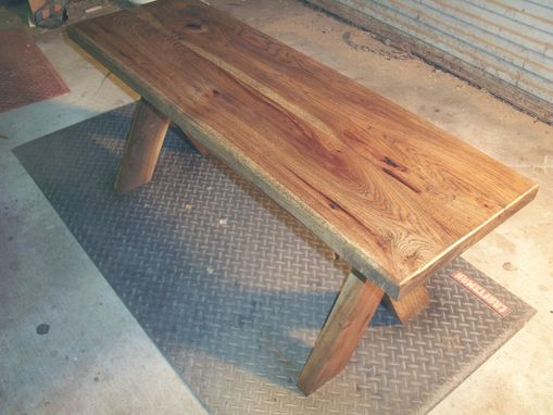 "Custom Made Hickory Bench-Modern-Rustic ""X"" Style"