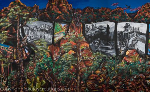 "Custom Made ""A Timeless Day In Sedona"" 50x7 Ft Public Mural Sedona, Az"