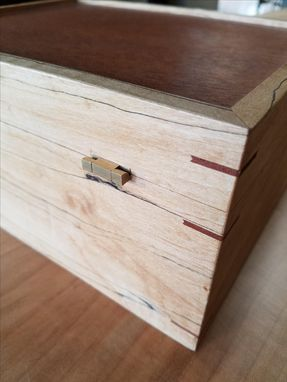 Custom Made Maple And Mahogany Jewelry Box