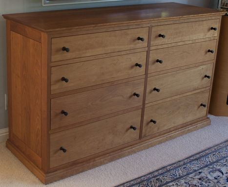Custom Made Cherry Dresser With Custom Hand Turned Solid Ebony Knobs