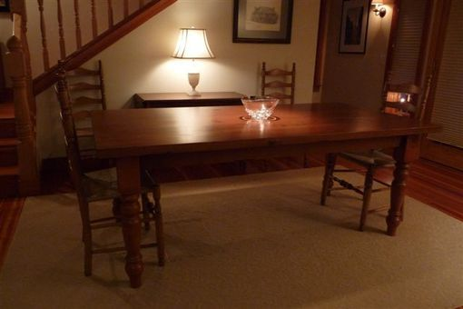 Custom Made Harvest Style Pine Dining Table