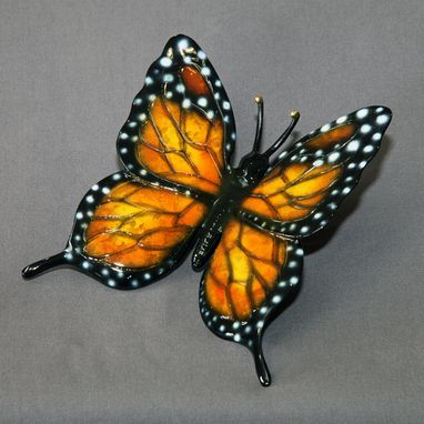 "Custom Made Gorgeous Color ""Butterfly"" Bronze Statue Figurine Insect Limited Edition / Signed Numbered"