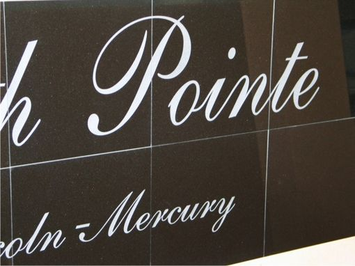 Custom Made Sandblasted Black Granite Sign