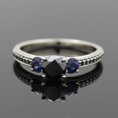Custom Made Classic Triple Stone Engagement Ring