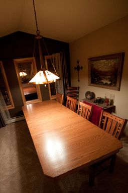 Custom Made Arts & Crafts Style Dining Table